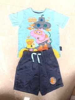 Original Peppa Pig Treasure Hunter Set - Shirt and pants size 18-14M