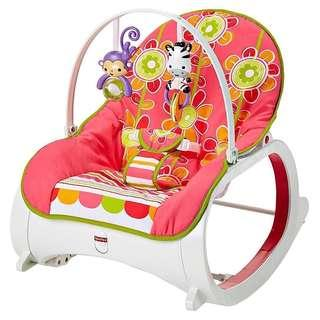 (In-Stock) Fisher-Price Infant-to-Toddler Rocker, Floral Confetti (Brand New)