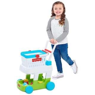(In-Stock) Fisher-Price Shopping Cart with Toys, Multicolor (Brand New)