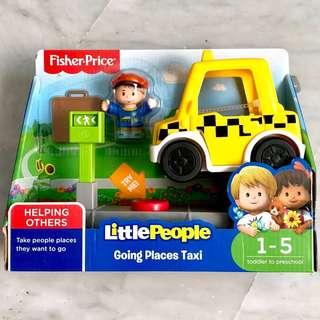 (In-Stock) Fisher-Price Little People Going Places Taxi (Brand New)