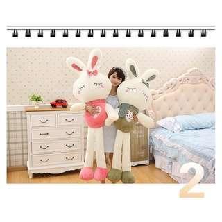 🚚 Super big Rabbit Soft Toy – (Pair, buy 1 get 1 free) 0.8m, 1m, 1.2m, 1.5m & 1.7m