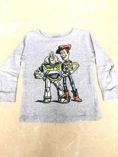 Disney Buzz and Woody Grey Long Sleeved Shirt