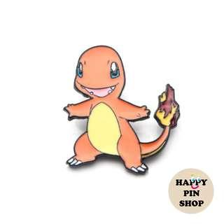 Happy Charmander Enamel Pin - Pokémon pins