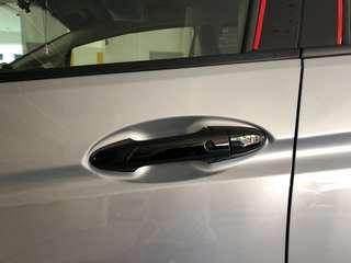 Honda shuttle jazz fit car door handles carbon fibre black