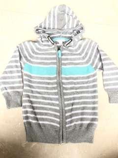 Pumpkin Patch Grey Stripes Sweater