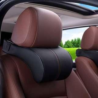 Leather memory cotton car headrest cushion car neck pillow pillow car pillow interior supplies generation
