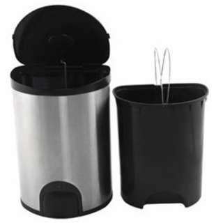 🚚 15 litters kicking foot sensing anti-fingerprint stainless steel double trash can