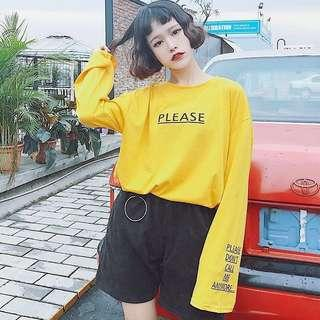 Long-sleeved T-shirt female spring and autumn Korean style