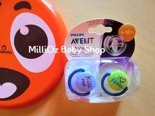 Philips Avent Orthodontic Soother (Pacifier) I ♥️ Papa x 2pcs (6-18m)