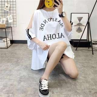 Short-sleeved T-shirt female summer Korean version of the loose Harajuku bf style