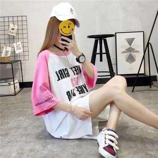 Short-sleeved T-shirt female summer dress Korean version