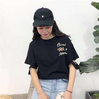 Short-sleeved T-shirt female ulzzang summer Korean version