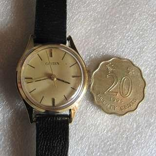 古董女裝星晨機械錶,CITIZEN 75-0263 斗零錶