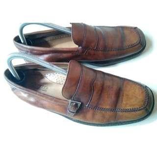 Sepatu Kulit Bata Pantopel Pantofel Original Asli Mulus No Nomer 42