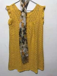 Minidress+scarf