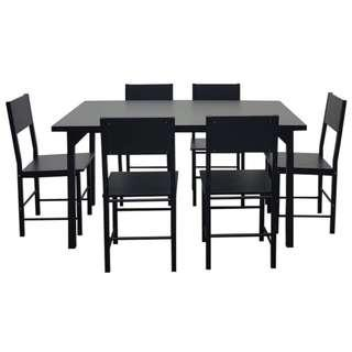 🚚 1+6 wooden dining set ♥️