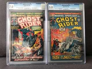 Marvel Spotlight #5 (CGC 7.0) & #6 (CGC 5.0) - 1st & 2nd appearance of Ghost Rider (Johnny Blaze)