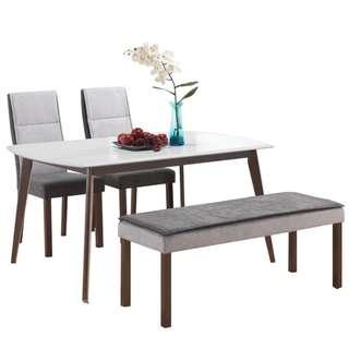 🚚 Elegant Dining set (table+bench+chairs) ♥️