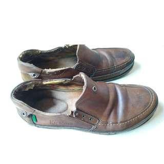 Sepatu Kickers Kulit Pantopel Asli Original Murah No Nomer 42 Cokelat