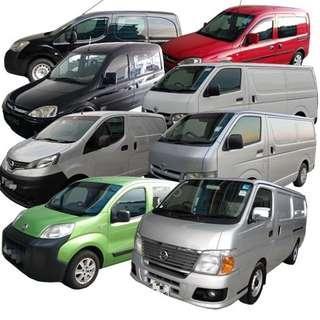 Van for rent / rental