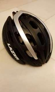 Lazer Z1 black silver cycling helmet