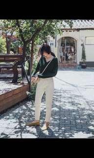 🚚 Meierq 斜紋窄管牛仔褲
