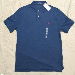 Polo Ralph Lauren Men Polo Shirt Blue男裝經典小馬logo中碼