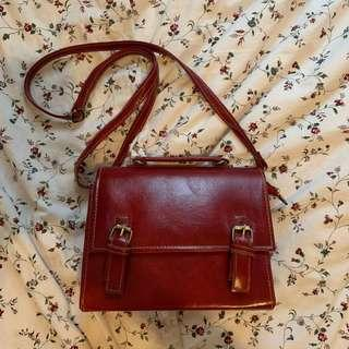 Red Vintage Messenger Bag