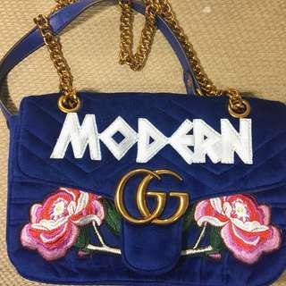 Gucci GG Modern Marmont Velvet Shoulder Bag