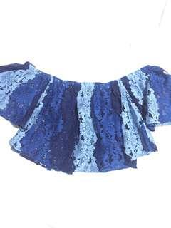 Blue Sabrina Top