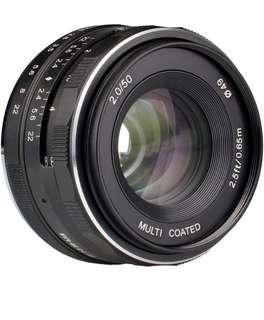 🚚 Meike 50mm F2.0 Manual Focus for Fujifilm