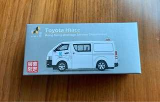 Tiny 渠務署會展限定客貨車 - Toyota Hiace HK Drainage Services Department (Limited Edition)