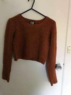 Cropped woollen jumper