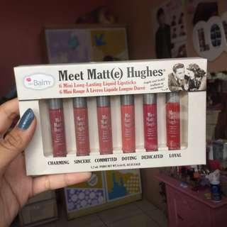 The Balm Meet Matte Hughes Mini 6pcs Liquid Lipstick Set