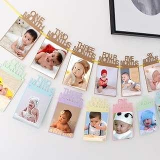 **NEW INSTOCKS!!** Baby Birthday Milestone Colour Photo Banner Deco