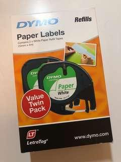 Dymo Paper Labels Refills Twin Pack