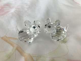 Swarovski 老鼠水晶 mouse Crystal