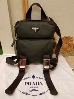 NEW Prada backpack haversack 2VZ062 Tessuto Montag (Nero) cf4a7f5740327