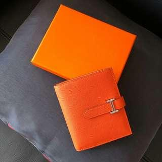 Classic Wallet in Orange (Hermes Style)