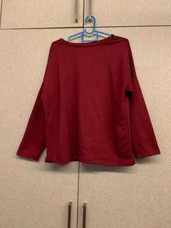 Red/maroon top
