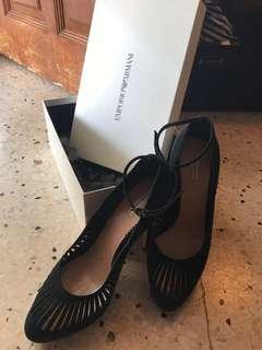 Emporio Armani black high heels size 39