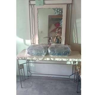 elegant Antique set console table & mirror