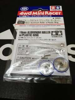 19mm Aluminium Rollers with Plastic Ring