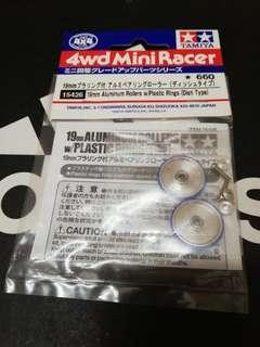 19mm Aluminium Rollers with Plastic Rings (Dish type)