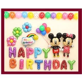 Birthday/Party Balloon Decoration / Micky / Doraemon / Frozen / Monkey