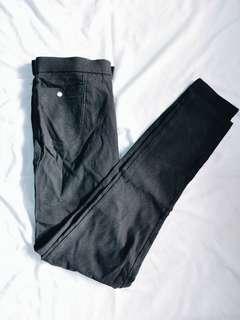 Plain black stretchy pants