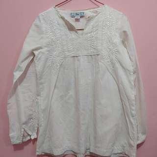 White blouse by gap #prelovedbranded #bajumurah