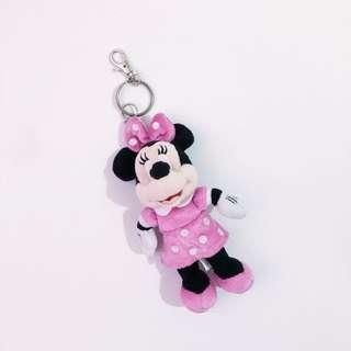 HK Disneyland Minnie Mouse Keychain • Authentic