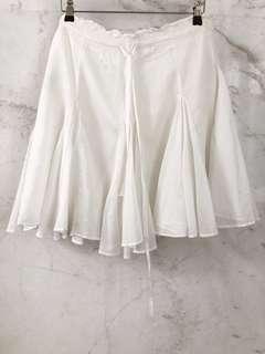 ZARA white knee length cotton skirt