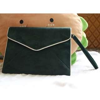 Fashionable Green Envelop Bag